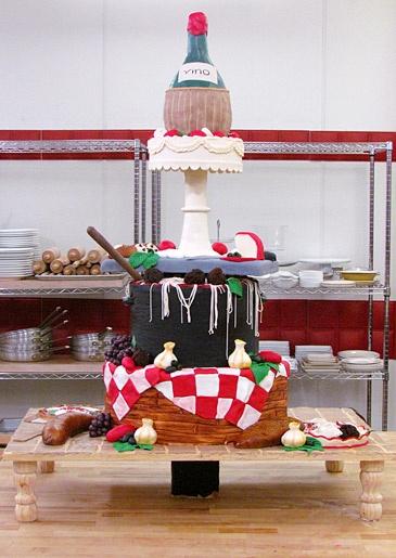 Chris, Jen & Gretel-Ann's Italian family cuisine cake. #NGB