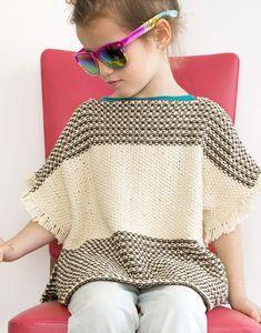 Modèle pull poncho Enfant                                                       …
