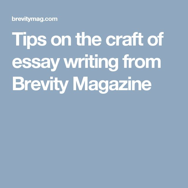 brevity magazine craft essays about love