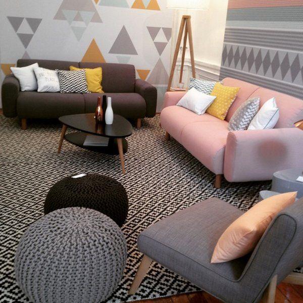 Un salon cosy et moderne
