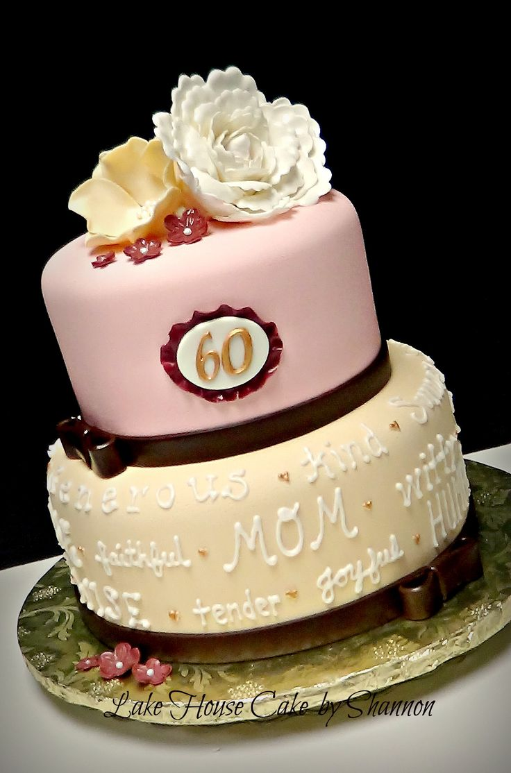 Best 25 mother birthday cake ideas on pinterest birthday cake 60th 60 sixtieth peony pearls pink ivory white brown gold mother birthday 2 tiered 2 tier dhlflorist Choice Image