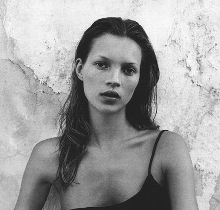 A young Kate Moss was discovered at age 14.