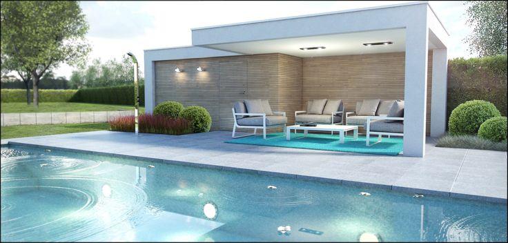 25 beste idee n over zwembad huizen op pinterest zwembaden zwembaden achtertuin en huizen - Zwembad terras outs ...
