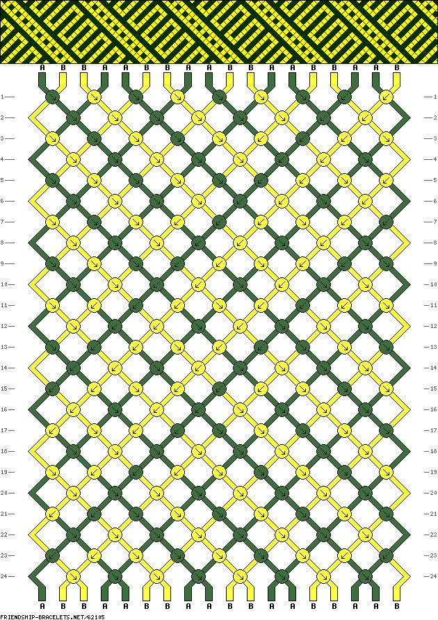 18 strings, 2 colors, 24 rows