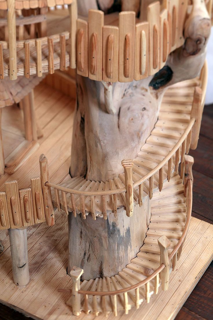 """""""Staircase Detail"""" by Rob Heard ~ Unique Wooden Art Sculptures Hand-Carved on Exmoor 