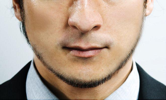 眉&ヒゲの藤村流メンテ術|ヒゲカタログ|小顔に見えるもみあげ一体型