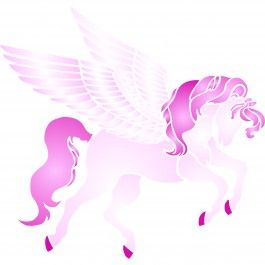 Any little girl would love this Pegasus Stencil in her room. This stencils can be used on walls, fabric and canvas. Cheap, easy to use and very effective. Stencilling is a versatile and exciting way to accessorize on any flat surface of your choice. Our stencils produce high quality designs with minimum fuss.