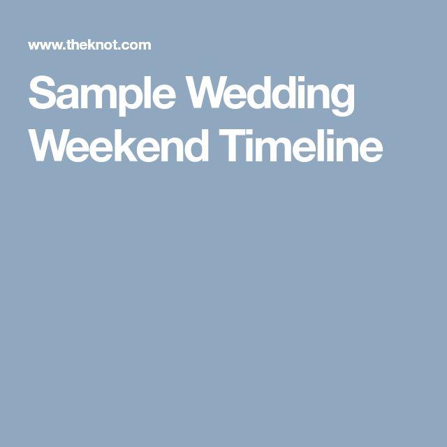 Sample Wedding Weekend Timeline