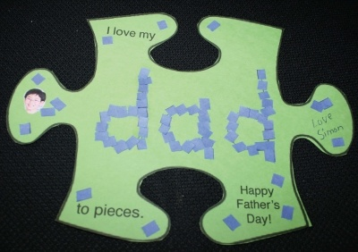 Fathers Day Card Love You To Pieces