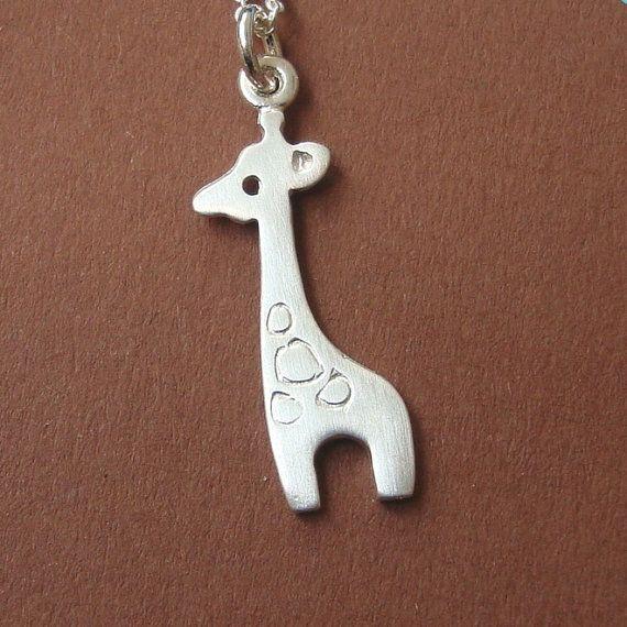 Giraffe Charm Necklace Sterling Silver Giraffe Pendant  teens jewelry kids jewelry girl necklace jewelry for her holidays jewelry