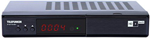 Telefunken TF-S7715-HD+ Full HD Satelliten Receiver (HDTV, DVB-S2, HD Plus Smart TV/Replay, HbbTV, Media Player, Ethernet, HDMI, USB) schwarz