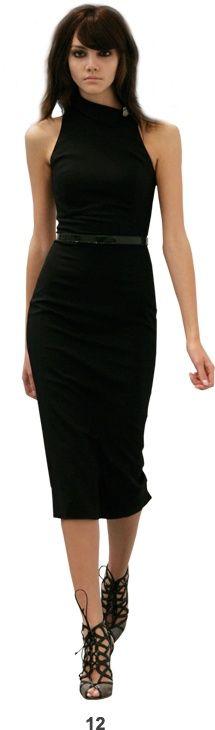 L Wren Scott Off the Shoulder, Little Black Dress