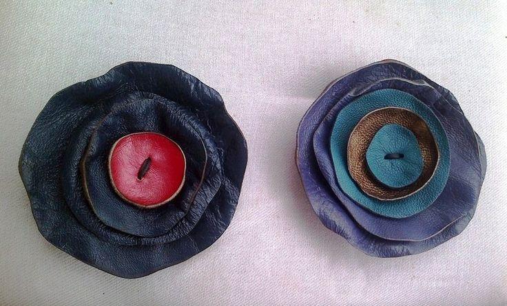 handmade leather pins