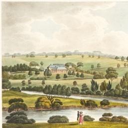 Elizabeth Farm, Residence of John Macarthur Esqr. near Parramatta, NSW, in 'Views in Australia, or, New South Wales & Van Diemen's Land delineated: in fifty views with descriptive letter press …', London , 1824