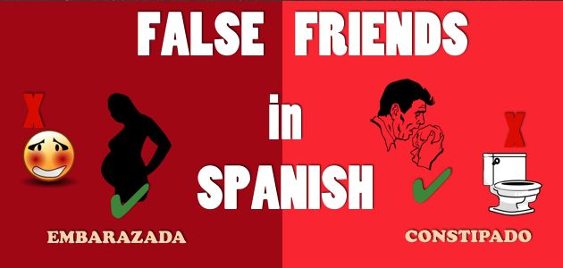 Using false friends (aka false cognates - words that sound similar to English, but mean something completely different) can lead to awkward social situations. Here are 10 False friends in Spanish to avoid!