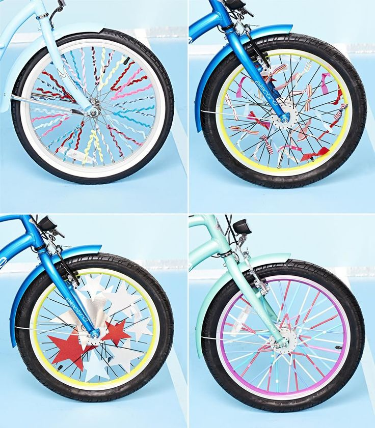 Make your kid's ride stand out with these easy-to-do bicycle decorations, whether you're planning to ride in a parade or just cruising around tow