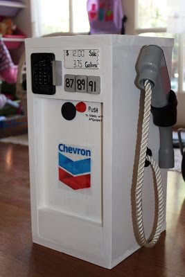 "MADE: Pieces For Reese: Pretend Play: Wooden ""Gas Pump"""