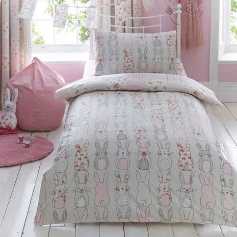 Pink Katy Rabbit Bed Linen Collection   Dunelm