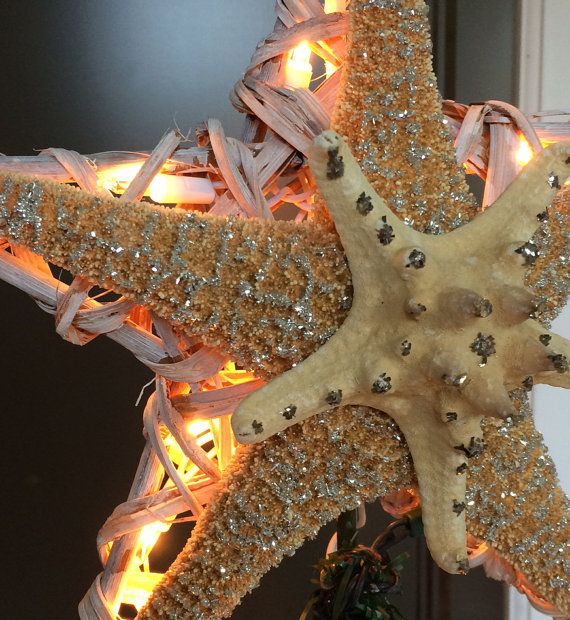 Starfish Tree Topper Christmas Tree Topper by Christmastreetops