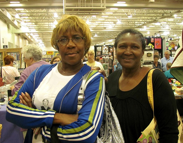 Maybell Baird and Juanita Brooks, both of Chicago, attend their first Quilt Expo! The 2012 Quilt Expo was put on by Wisconsin Public Television and Nancy Zieman Productions.