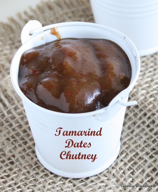 Tamarind Dates Chutney, a sweet & sour chutney that goes well with many Indian Chaat items. Already i have one recipe for sweet chutney her...