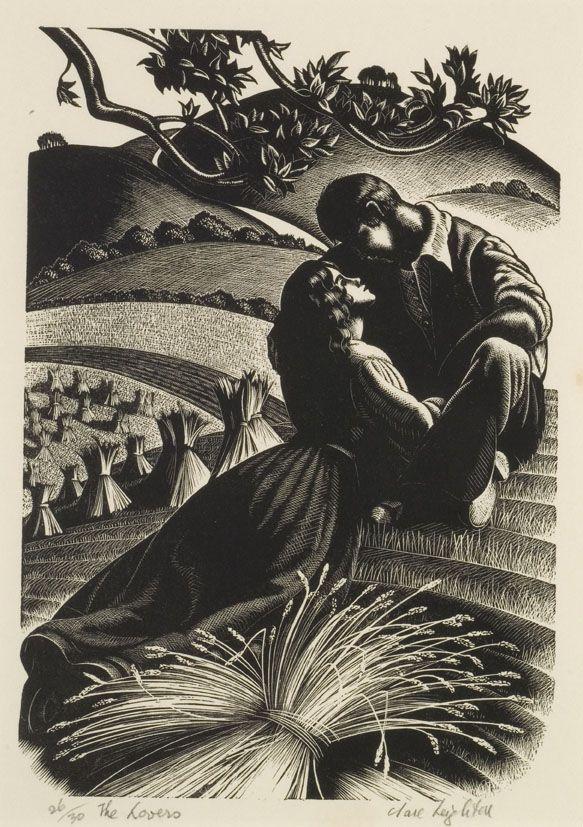 Clare Leighton, wood engraving ( print ) - British art (paintings, works on paper, sculptures) 1890-1980.