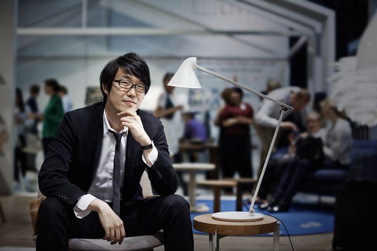 Oki Sato, the designer of the NJP Table lamp.  Photo: Martin Sølyst