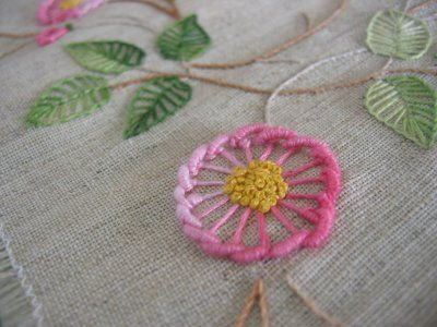 Interesting flower • Brazilian embroidery -