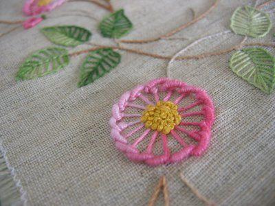 Interesting flower • Brazilian embroidery -