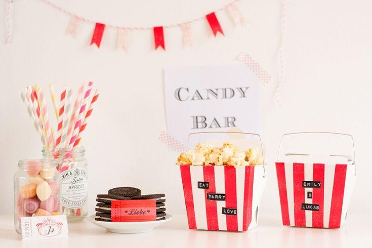 DIY #Candybar | Die Anleitung findest Du bei www.the-little-wedding-corner.de/diy-candy-bar/