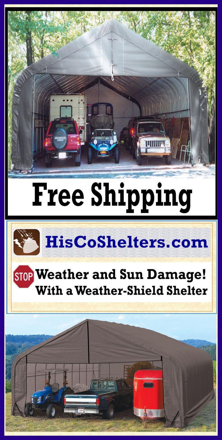 17 best shelter logic 3 car garage images on pinterest for Modular 3 car garage