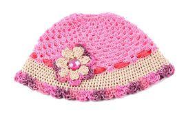 Crochet Cap Handmade - Pink