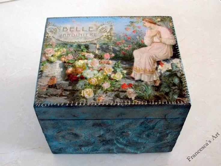 Ξύλινο κουτί με μεικτή τεχνική https://www.facebook.com/pages/Francescas-Art/347467208699516