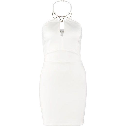 Miss Selfridge Sukienka koktajlowa cream zalando bialy bez wzorów/nadruków