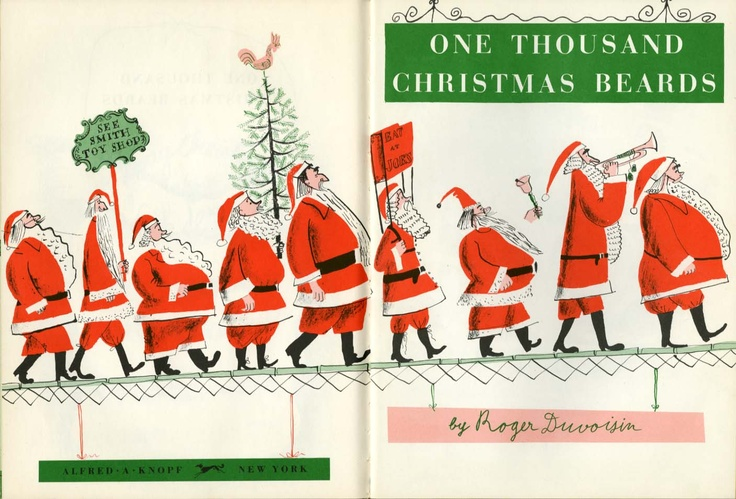 One Thousand Christmas Beards written and illustrated by Roger Duvoisin