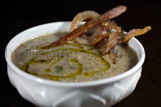 Le mie ricette - Zuppa di fagioli misti, baccalà e cime di rapa, con guanciale croccante