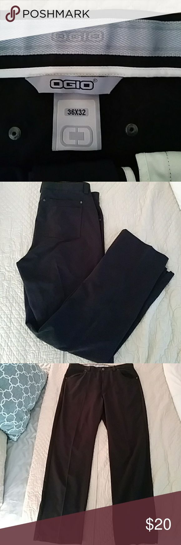 Mens Ogio golf pants sz 36×32 Great pair of Mens Ogio golf pants with no slip waist band in a size 36×32. These pants are an excellent like new condition, worn one time, see pics for additional measurements. Ogio Pants Dress