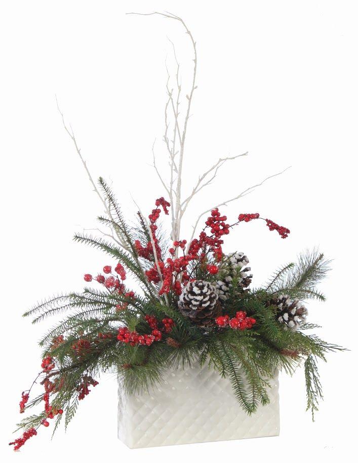 Christmas Floral Designs - Wreaths, Swags and Arrangements ––– Prairie Gardens Champaign, Illinois www.prairiegardens.com