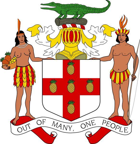 Coat of arms of Jamaica.4 MAYIS 1494 - Kristof Kolomb, Jamaika'ya vardı.