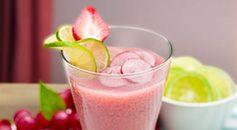 Bahan-bahan :200 ml Buavita Grape3 Slice nanas20 ml Air gula8 ml Sirup coco pandanCara membuat:Siapkan air gula dengan mencampur 300 gram gula dengan 300 ml air panas.Aduk semua bahan-bahan hingga tercampur rata.Tuang minuman ke dalam 1 gelas saji yang pinggirannya ditaburi gula.Hias dengan menambahkan irisan apel, potongan kiwi, dan anggur ke dalam gelas saji.Cara penyajian :1/2 lemon, 1/2 strawberry, grape, mint leave