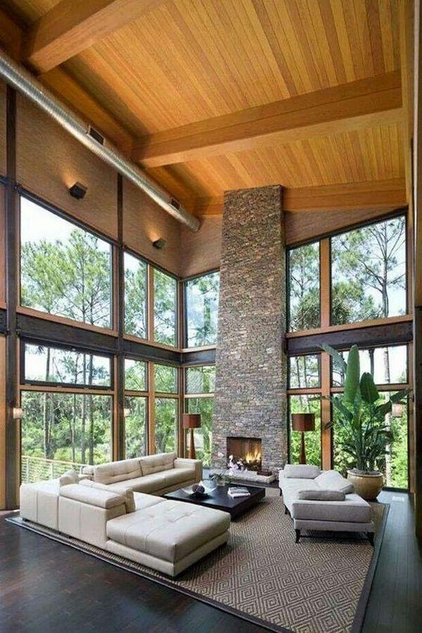 Панорамные окна в доме: 38 фото | Живу за городом | Дом, Дизайн дома, Элитные  дома