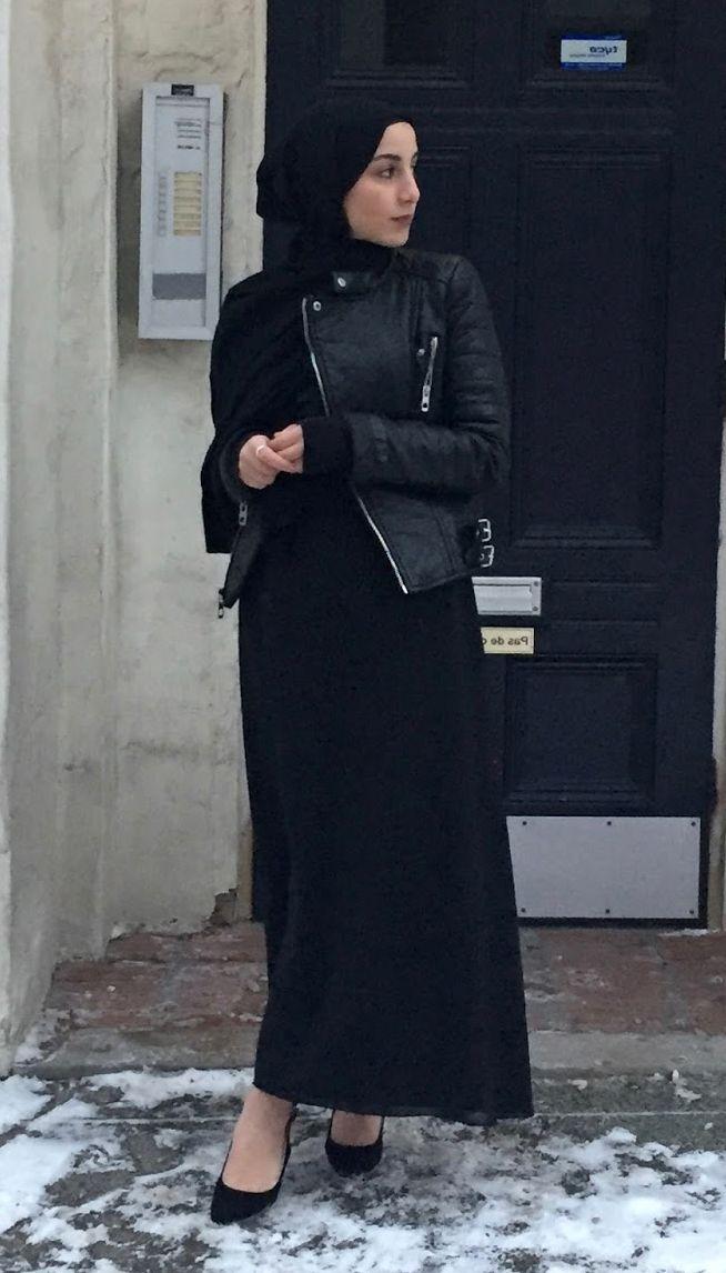 Siyah Deri Tesettur Kisa Ceket Modelleri Siyah Deri Moda Stilleri Deri Ceket