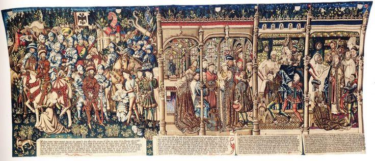 """""""Суд Траяна"""". Гобелен по картине Рогира ван дер Вейдена из Зала судей Брюссельской ратуши, 1436-39"""