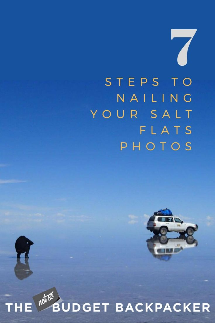 As you only have about 2 hours on the Uyuni Salt Flats you need take advantage of every second. So here are 7 tips to ensure you nail every single photo. // Salt flats photography / salar de uyuni photos / el salar de uyuni bolivia / salar uyuni, world's largest mirror / Things to do in Bolivia / Bolivia travel / Where to go in Bolivia / Things to do in Bolivia / What to do in Uyuni / What to do in Bolivia / Salar de uyuni Bolivia travel / Uyuni salt flats