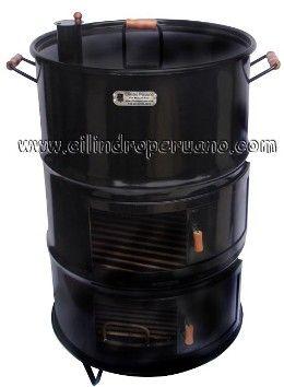 Como hacer de un tambo un asador estilo peruano (cilindro)