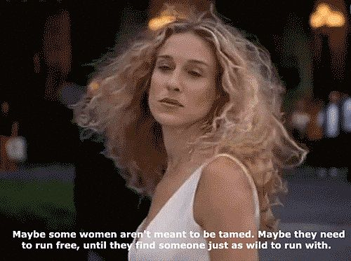 The Sex And The City Guide To Surviving Wedding Season #refinery29  http://www.refinery29.com/2015/05/86549/sex-and-the-city-wedding-quotes-gifs#slide-14  When being single in matrimony mayhem gets you down, remember the ultimate Carrie-ism.