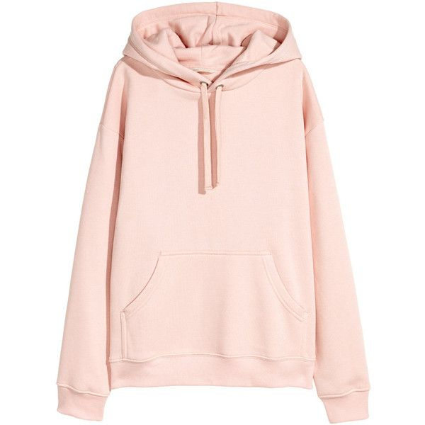 Kapuzenshirt 24,99 (995 THB) ❤ liked on Polyvore featuring tops, hoodies, clothing - hoodies, hooded pullover, pink hooded sweatshirt, hooded top, drop shoulder tops and pink top