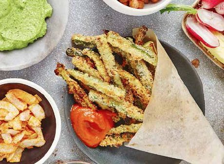 Swap regular fries for these incredibly easy yet nutritious Baked Courgette Fries - they're done in 20 minutes.