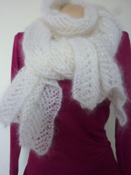 75028798ce7c Echarpe en tricot dentelle (tuto)   marko jevric   Knitting, Tricot ...