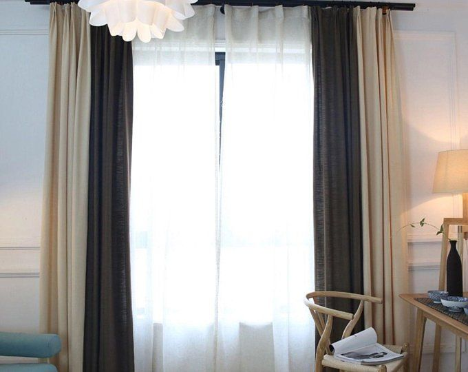 Linen Curtain Panels Custom Curtain Panels Living Room Curtains